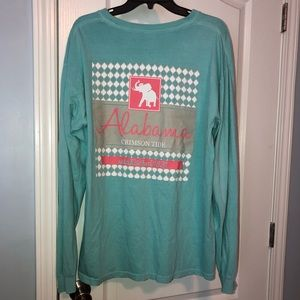 University of Alabama Comfort Colors Teal Tee